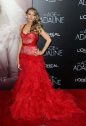 Blake Lively wears Monique Lhuillier - 'The Age Of Adaline' Premiere