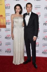 Angelina Jolie and Brad Pitt attends the opening night gala premiere of Universal Pictures'