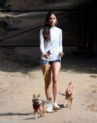 Eiza Gonzalez: Walking her Dogs in Los Angeles