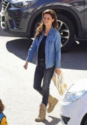 Penelope CruzL Leaving a Hospital in Madrid