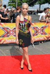 Rita Ora attends the London auditions of The X Factor at SSE Arena