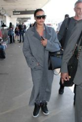 Naya Rivera: seen at LAX
