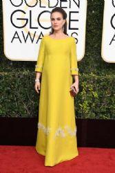 Natalie Portman in Prada Dress : 74th Annual Golden Globe Awards