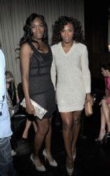 Venus Williams and Serena Williams attend the Vanity Fair and Chrysler celebration