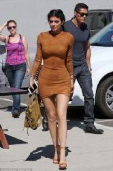 Kylie Jenner arrives at a studio in Culver City September 29,2015