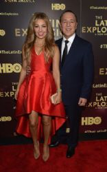 Thalía and Tommy Mottola: 'The Latin Explosion: A New America,' Premiere Screening