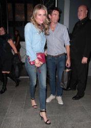 Rebecca Romijn celebrates her 41st birthday with dinner at Hakkasan