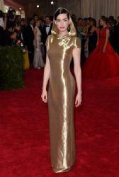 Anne Hathaway wears Ralph Lauren - 2015 Met Gala