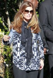 Maria Shriver seen leaving ahouse party held in Beverly Hills