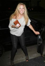 Tiffany Thornton: outside Katsuya on Tuesday night