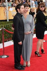 Jocelyn Towne and Simon Helberg: 20th Annual Screen Actors Guild Awards - Red Carpet