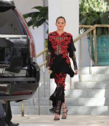 Chrissy Teigen wears Raisa & Vanessa dress :  Night Out in Miami