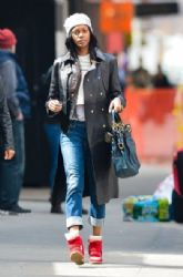 Jessica White: out shopping with a friend in New York City
