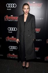 Elizabeth Olsen: attends The Cinema Society & Audi screening of Marvel's
