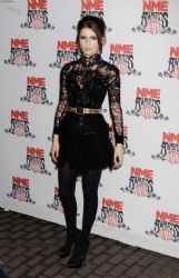 Tali Lennox at the NME Awards in London