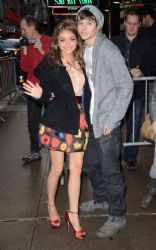 Sarah Hyland and Matt Prokop were spotted at ABC Studios in Times Square, New York City this morning (October 20)