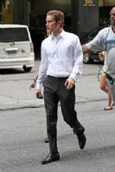 Chace Crawford are spotted on the set of