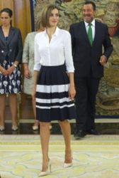 Queen Letizia of Spain: Public Reception at the palace