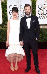 Amelia Warner and actor Jamie Dornan: Golden Globe Awards