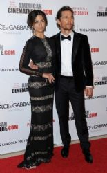 Camila Alves McConaughey and Matthew McConaughey: Arrivals at the American Cinematheque Award