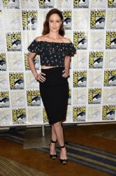 Actress Sarah Wayne Callies attends the press line for the Fox Action Showcase with