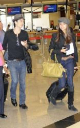 Nina Dobrev and Ian Somerhalder were spotted jetting out of Atlanta, GA on Saturday morning (October 1)