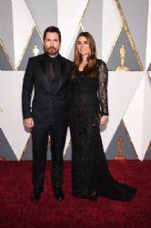 Christian Bale and Sibi Blazic: 88th Annual Academy Awards - Arrivals