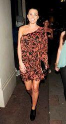 Danielle Lloyd enjoys a night out at Nobu Berkeley restaurant in London