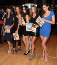 Sports Illustrated Models Ring the New York Stock Exchange Closing Bell