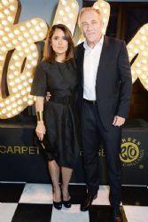 Salma Hayek and François-Henri Pinault: Fashion Week in London 2014