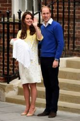 The Duke And Duchess Of Cambridge Depart The Lindo Wing With Their Daughter