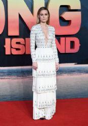 Brie Larson wears Ralph & Russo dress :  London premiere of