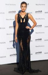 Irina Shayk wears Versace - 2015 Amfar Paris