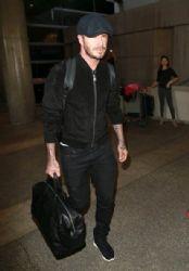 David Beckham wears St Laurent - At Lax