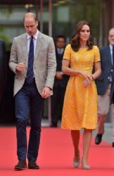 Prince William, Duke of Cambridge and Catherine, Duchess of Cambridge visit to the German Cancer Research