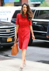 Amal Alamuddin Goes out Solo in NYC