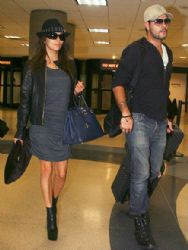 Eva Longoria and Eduardo Cruz Sanchez: Arrive at LAX