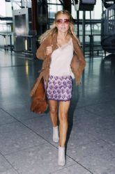 Geri Halliwell: out of Heathrow Airport to Los Angeles