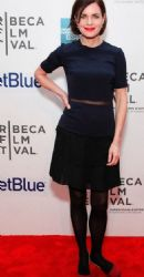 Elizabeth McGovern: premiere of her new film Cheerful Weather For The Wedding the evening before at the BMCC Performing Arts Center