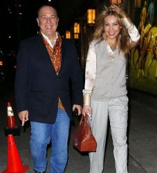 Thalia and Tommy Mottola: dinner time