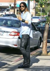 Jared Leto out and about in Studio City Ca