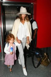 Jessica Alba and Daughter Haven Hitch a Flight at LAX