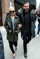 Christina Aguilera wears Christian Louboutin - New York City April 17, 2014