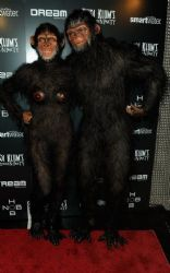 Heidi Klum Monkeys Around At NYC Halloween Party