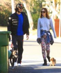 Adam Brody & Leighton Meester: out for an early morning walk in Los Angeles