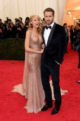 Blake Lively and Ryan Reynolds: Red Carpet Arrivals at the Met Gala 2014