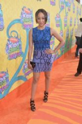 Tia Mowry-Hardrict attends Nickelodeon's 27th Annual Kids' Choice Awards