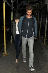 Andrew Garfield and Emma Stone: out in London
