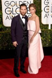 Matthew McConaughey and Camila Alves: 72nd Annual Golden Globe Awards 2015- Arrivals