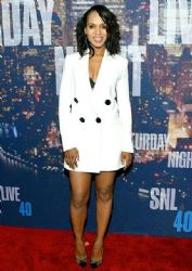 Kerry Washington wears Adam Lippes - Saturday Night Live 40th Anniversary Celebration